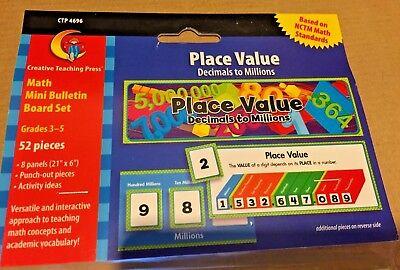 CTP Place Value Decimals to Millions Common Core Math Mini Bulletin Board Set ()