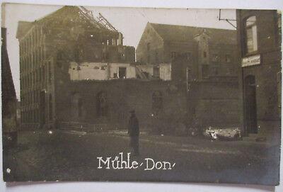 Frankreich, Don bei Lille, Mühle, Fotokarte mit Ortsangabe (50918)