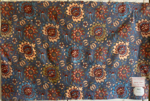 Beautiful late19th Century early20th Century French Exotic Floral Printed Fabric