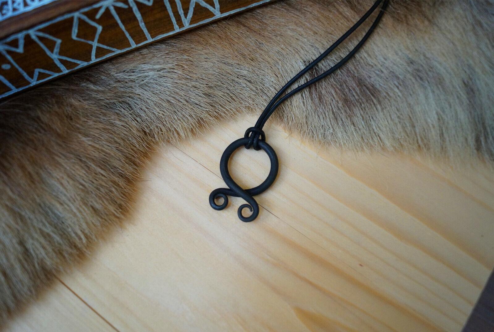 Trollkreuz Wikinger Anhänger Halskette Kette Mittelalter Eisen Magie Schutz larp