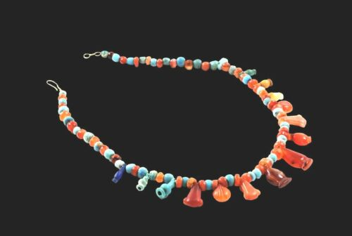 ANCIENT EGYPTIAN RE STRUNG BEADS NECKLACE