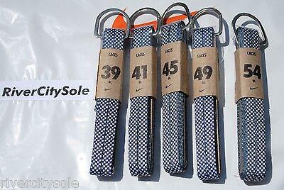 Nike Black / White Checker Flat Shoe Laces 54