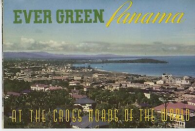 1939 Ever Green Panama Travel Brochure Central America Canal Fishing Vintage