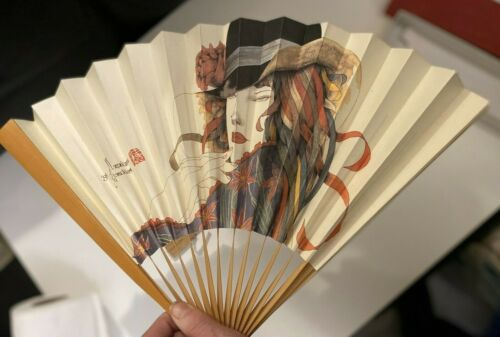 "Japanese Masakane Yonekura 1995 Fan in gift box 12"""