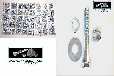 Locking Steel Bolts - 3400PC GRADE 5 COARSE THREAD BOLT,  NUT, FLAT AND LOCK WASHER ASSORTMENT