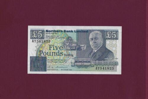 Ireland Northern 5 Pounds 1990 P-193 UNC KEY DATE