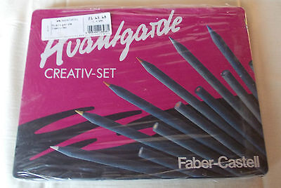Faber Castell Box (Faber-Castell Avantgarde Creativ-Set in dekorativer Metallbox - 26 Teile-NEU&OVP)