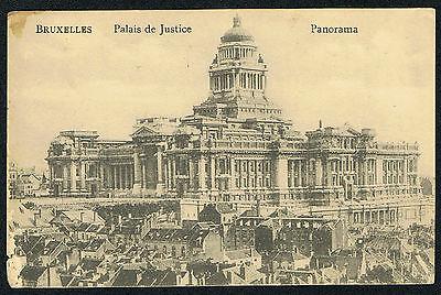 AK Brüssel Bruxelles Palais de Justice mit Feldpost 1917