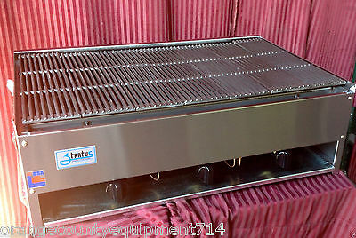 New 36 Lava Rock Char Broiler Gas Grill Stratus Scb-36 1184 Restaurant Nsf Usa