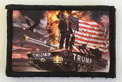 Donald Trump Victorious Morale Patch Tactical ARMY Hook Military USA Badge Flag