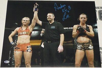 Andrea KGB Lee Signed 16x20 Photo BAS Beckett COA UFC LFA Invicta FC Autograph 7