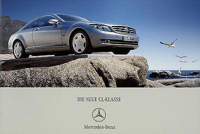 Prospekt Mercedes CL 500 600 6/06 Autoprospekt Broschüre 2006 Auto PKW brochure