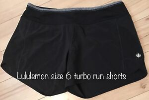 Lululemon size 6 Turbo Run Shorts
