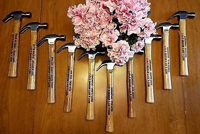 10 Personalized engraved hammers For Wedding Favor gifts Groomsmen  - Personalized Gifts For Wedding