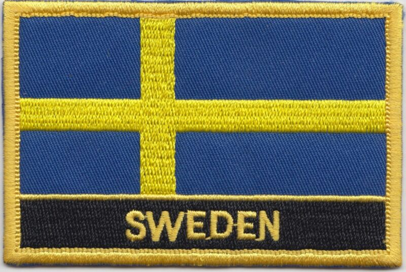Sweden Flag Embroidered Patch Badge - Sew or Iron on