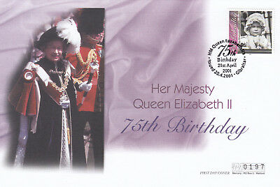 (19522) Gibraltar FDC Queen 75th Birthday 20 April 2011
