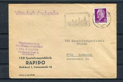 Wirtschaftsdrucksache VEB Spezialwaagenfabrik 15 Pfg. EF Radebeul - b4644