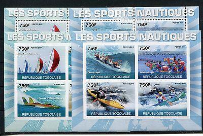 Togo 3859/66 A + B Kleinbogen postfrisch / Wassersport - Segeln - Rudern 1/1176