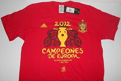 Adidas EURO 2012 POLAND UKRAINE  SPAIN ORIGINAL Tshirt shirt jersey with TAGS
