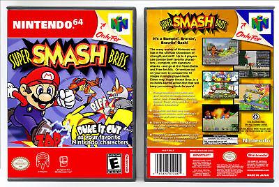 Super Smash Bros. - Nintendo 64 N64 Custom Case *NO GAME*