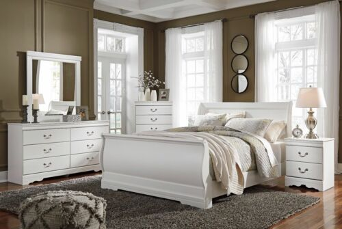 Ashley Furniture Anarasia Queen Sleigh 6 Piece Bedroom Set