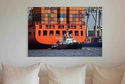 Hamburger Wandbild: Der Container-Riese im Hafen Hamburg  Fotos Bilder