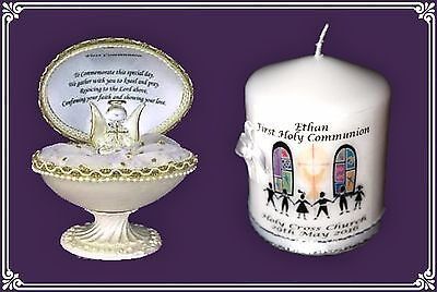Angel crystal glass First holy Communion Egg & personalised 3