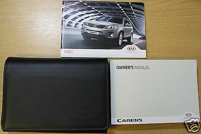 KIA CARENS OWNERS MANUAL HANDBOOK WALLET 2013-2016 PACK