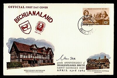 DR WHO 1964 BECHUANALAND FDC 400TH ANNIV BIRTH SHAKESPEARE  C244432
