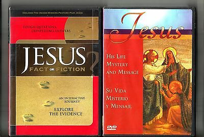 2 JESUS DVD Fact Or Fiction (2003) Includes Jesus Film & His Life (2003) Christ