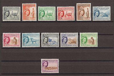 SOMALILAND 1953-58 SG 137/48 MNH Cat £120