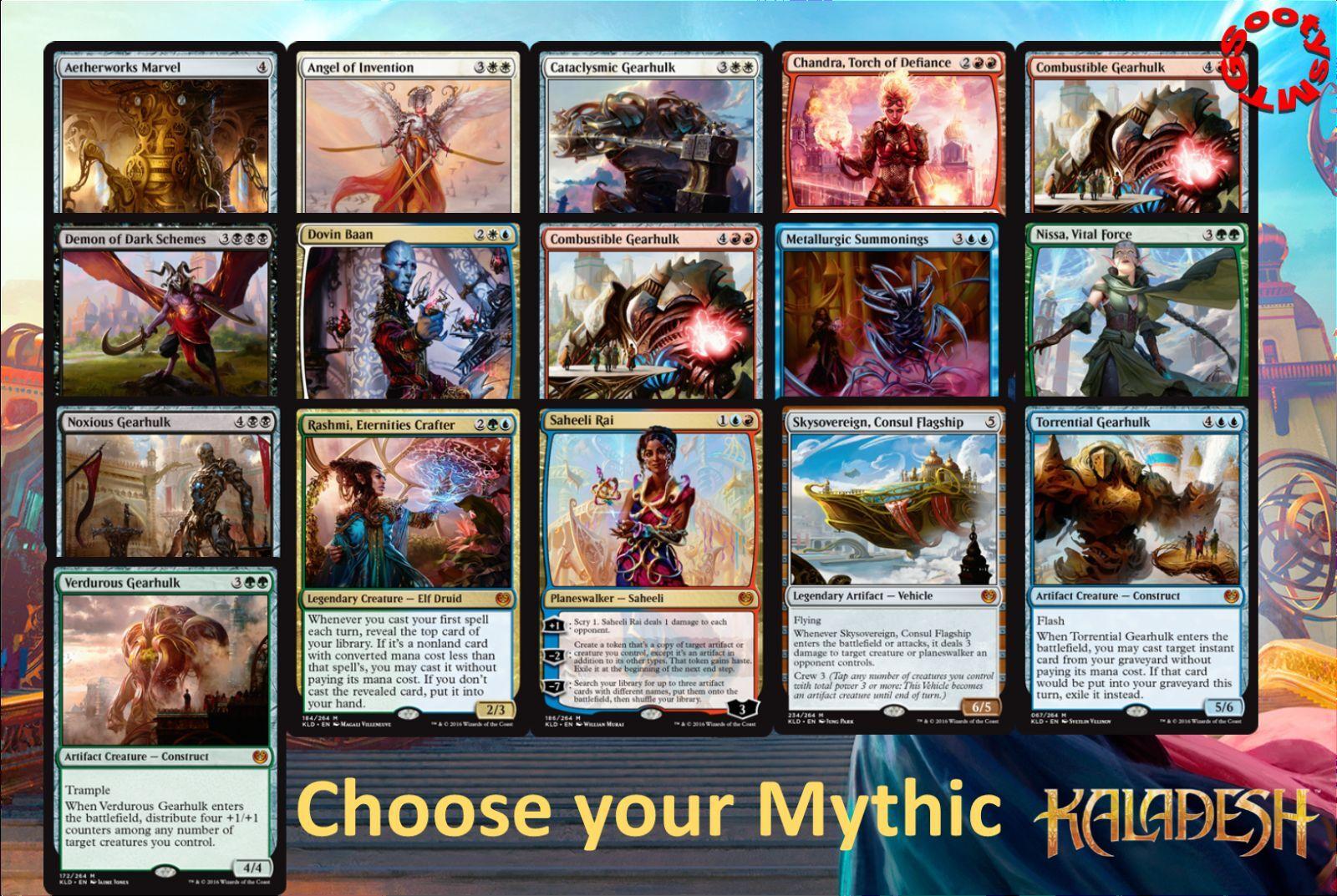MTG Kaladesh choose your Mythic - New - Free 1st Class Post