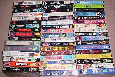 Mixed Lot of 50 VHS Movies vintage classic Action Comedy Drama Horror ect. ect.
