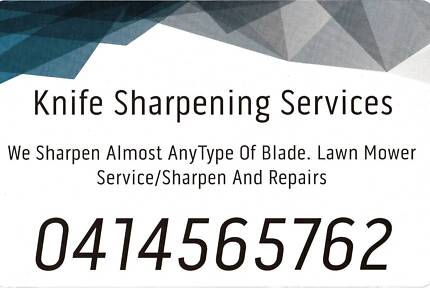 Knife Sharpening Services.
