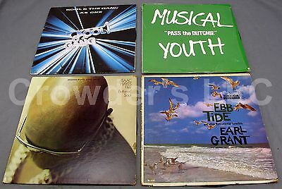 Lot of 4 Vintage Records: Musical Youth Kool & the Gang Earl Grant & Isaac Hayes