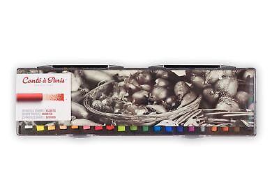 Conte a Paris - 20 Assorted Artists Quality Soft Round Pastels Set