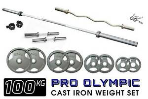 Pro Olympic Barbell Complete 100kg Weight Set