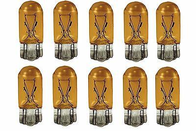 10x 194NA Amber Bright T10 Car Mini Lamp 5050 Light bulbs W5W 158 192 168 194