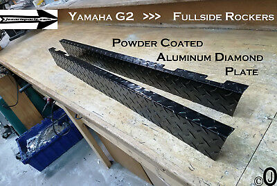 YAMAHA G2-G9 Golf Cart Powder Coated Aluminum Diamond Plate FullSide Rocker Set