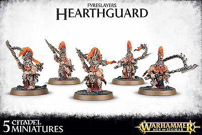 Fyreslayers Hearthguard Dwarves Warhammer Fantasy Age of Sigmar NEW
