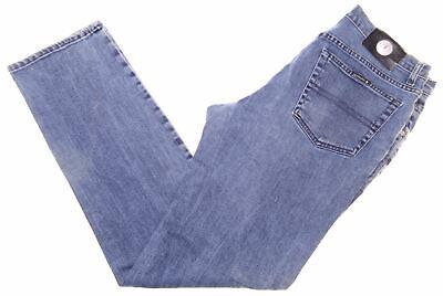 TRUSSARDI Mens Jeans W34 L31 Blue Cotton Straight DF03