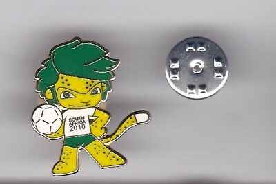 """ Zakumi "" - WC Mascot South Africa 2010 - lapel badge butterfly fitting, usado segunda mano  Embacar hacia Argentina"