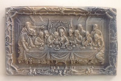 "Large 16"" Michelangelo's last supper Wall Sculpture"