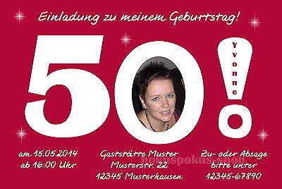 10 Einladungskarten Geburtstag Einladungen 50 60 70 40 Geburtstagseinladung