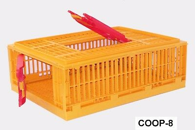2 Pack - Game Bird Transport Crates 4h Show Cage Bantam Chicken Heavy Duty
