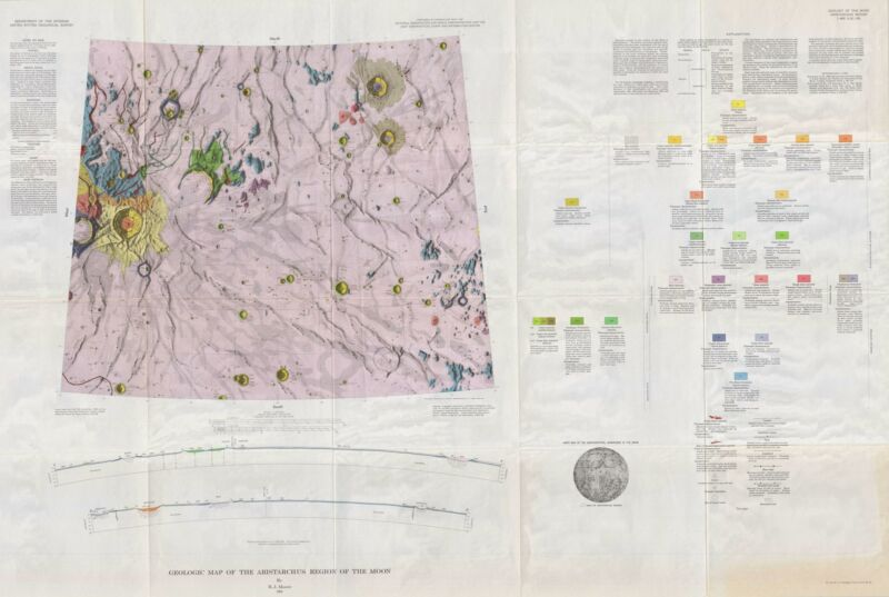 1965 USGS Geologic Map of the Moon: Aristarchus Region