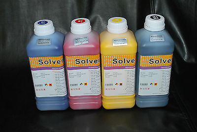 Eco Solvent Ink For Roland Mimaki Mutoh 4 Liters Cmyk Us Seller
