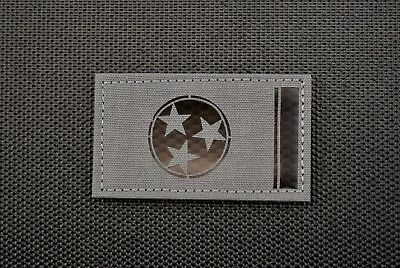 Infrared Tennessee State Flag Wolf Grey Call Sign Patch IR TN Volunteer State