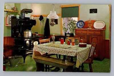 Bird In Hand Intercourse Pennsylvania PA Amish Kitchen Stove Postcard 1950s