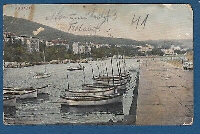 Croatia ABBAZIA - OPATIJA, vintage postcard 1906. FIUME, OTOČAC !